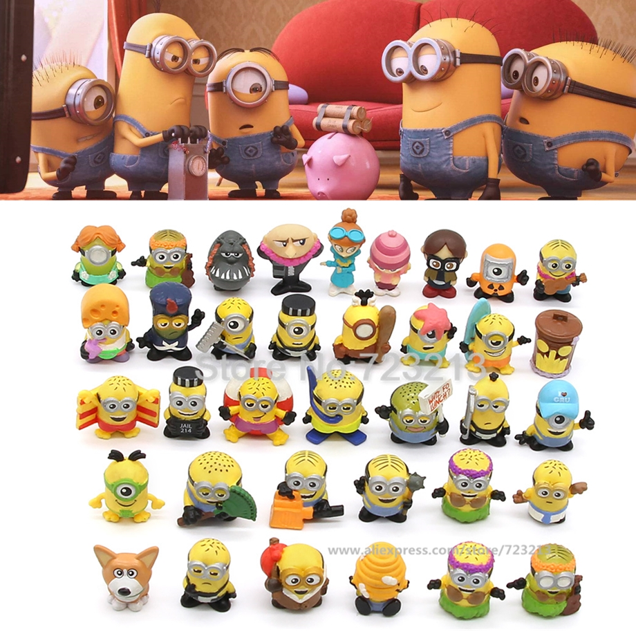 Soft 2.5-3cm Random 5pcs/lot Minions Bob Kevin Cartoon Gru Action Figure Despicable Me Toy Movie Anime Collection Dolls Toys