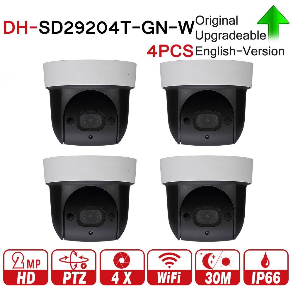 купить DH SD29204T-GN-W 2MP 1080P 4X Optical Zoom PTZ WiFi Network IP Camera CCTV 30M Night Vision Wireless WDR ICR DNR IVS 4pcs/lot по цене 38500.18 рублей