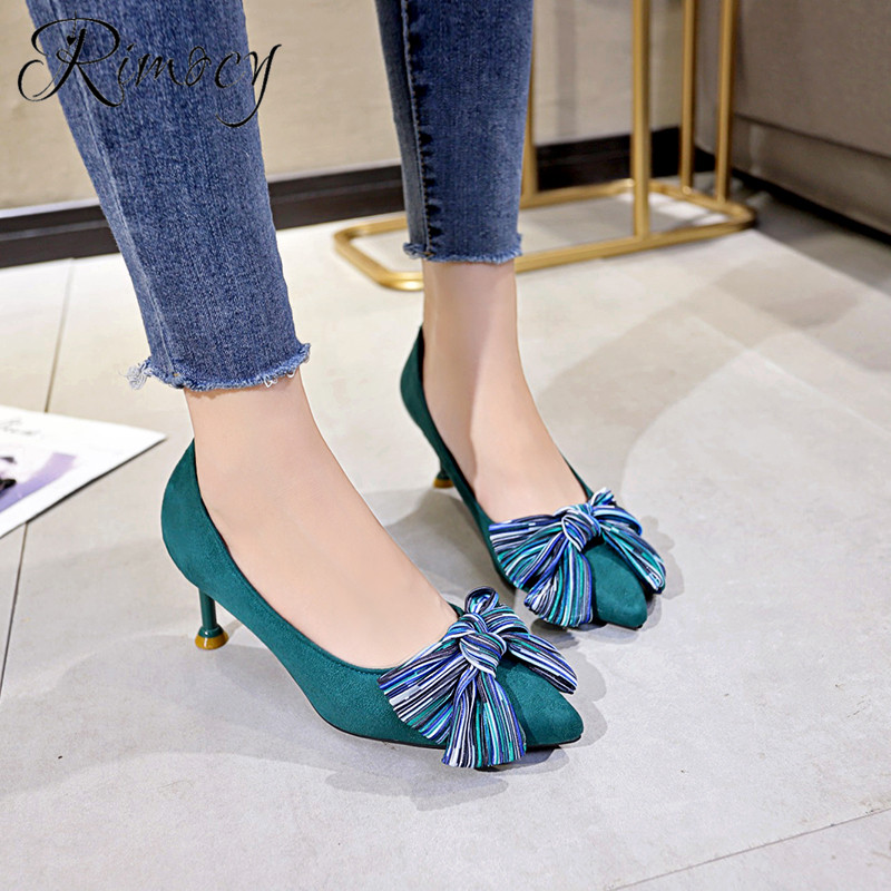 312c11c8f92f Rimocy women pointed toe slip on single shoes woman 2019 spring fashion  stiletto high heels pumps