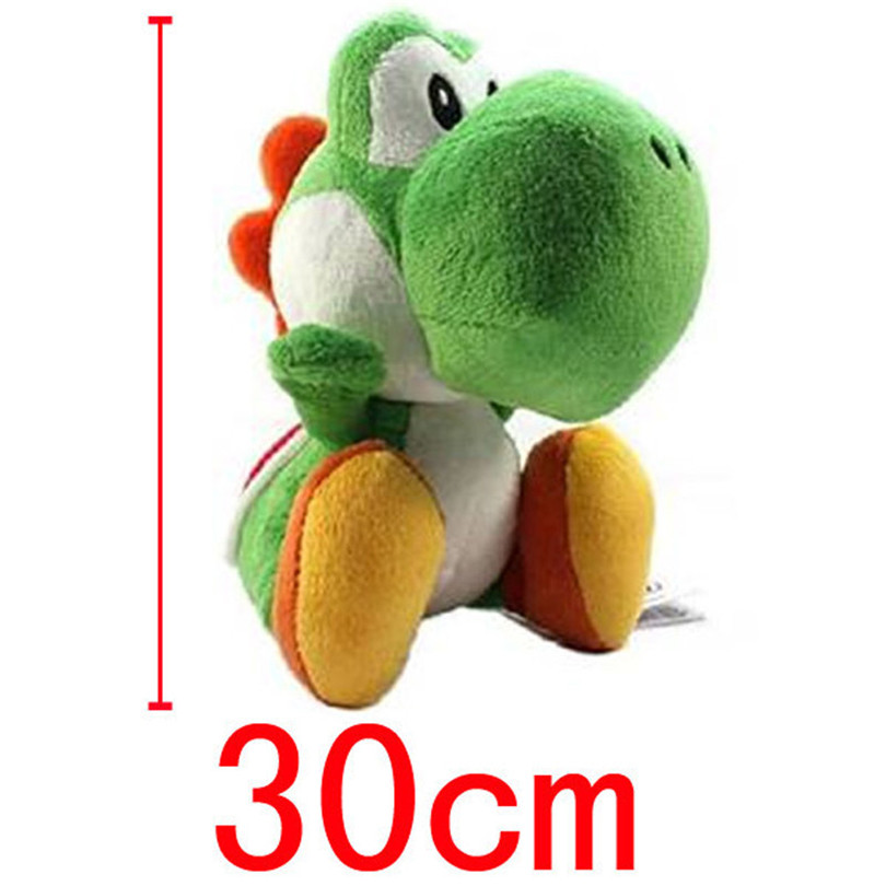 1Pc New Arrival Super Mario Bros Green Yoshi Stuffed Plush Toys 30cm Soft Stuffed Toys Doll With Tag For Children Retail 2016 new super mario plush 17cm one piece anime soft yoshi plush cute lovely doll kids gift
