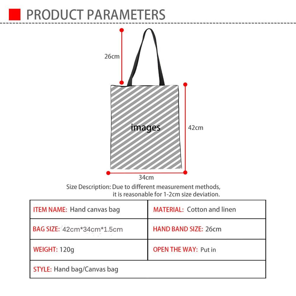 Speech Pathologist Print Casual Linen Tote Shopping Bag Supermarket Cloth Pouch Large Shoulder Handbag