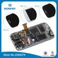S4 i9192 i9190 para samsung lcd s4 mini gt-i9195 Duos i9190 LCD Screen Display Toque Digitador Assembléia com frame + ferramentas
