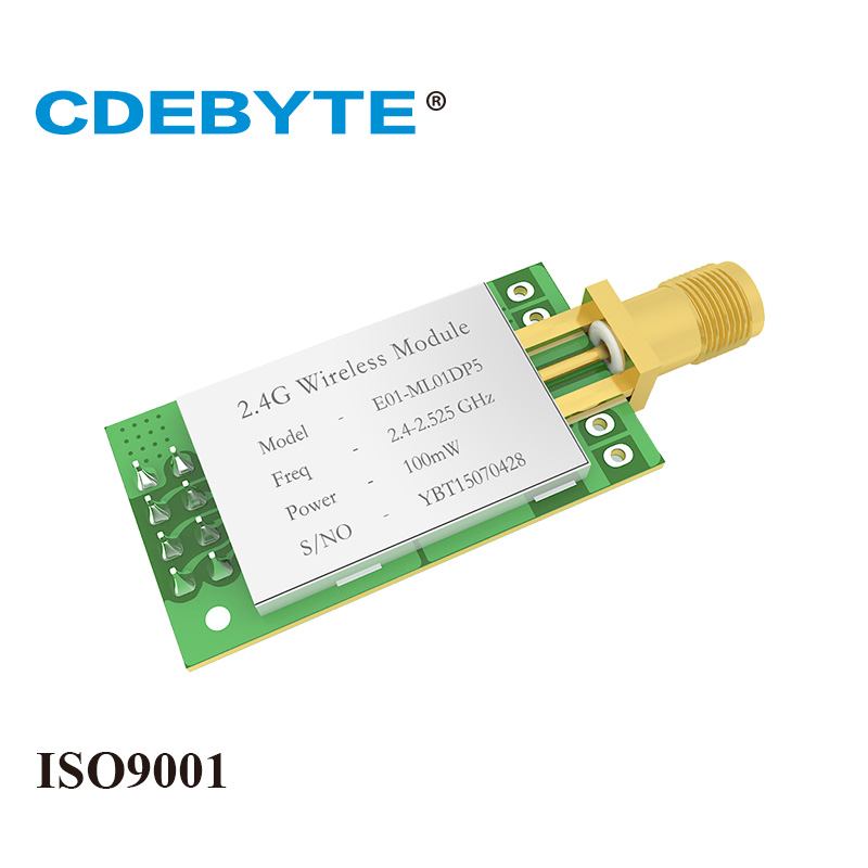 Image 2 - E01 ML01DP5 Long Range SPI nRF24L01P 2.4Ghz 100mW SMA Antenna IoT Wireless Transceiver Transmitter Receiver nRF24L01P RF Module-in Fixed Wireless Terminals from Cellphones & Telecommunications
