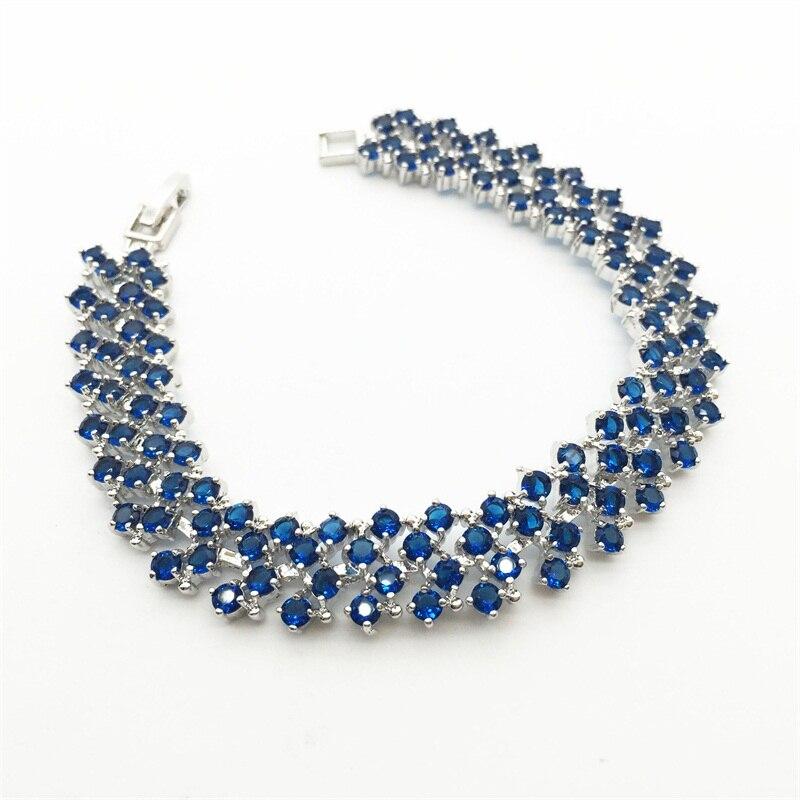 36ac4efbb6a2 Pulseras y brazaletes 2015 nuevo diseño colorido AAA ZIRCON Montana pulsera  oro blanco placa mujeres pulsera joyería de moda