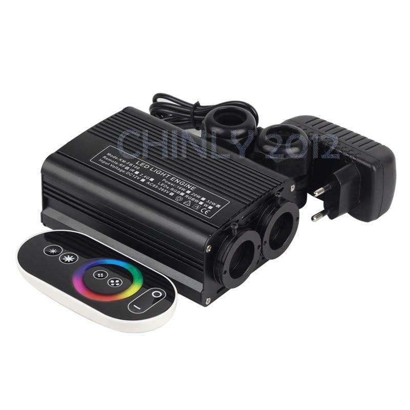 ФОТО 32W RGB LED Fiber Optic Engine Driver double head+RF touch Remote controller for all kinds fiber optics