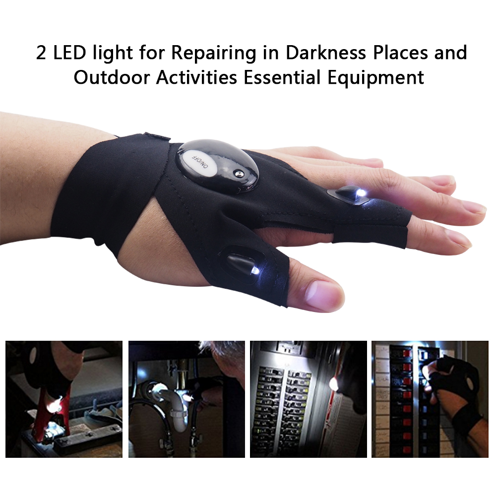 Image 2 - Repairing Finger Light Fishing Magic Strap Finger Glove LED Flashlight Torch Cover Survival Camping Hiking Rescue Tool z20-in LED Flashlights from Lights & Lighting