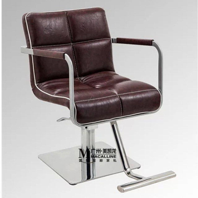 Manufacturers sell new luxury european-style chair. Hair salons dedicated hairdressing chair. The haircut chair. Barber's chair
