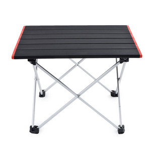 Image 2 - Ultra Light Aluminum Alloy Tables Spot Outdoor Camping Table Portable Foldable Tables Camping Self driving Table