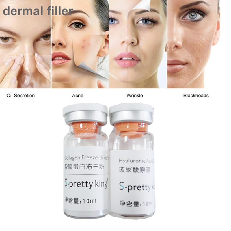 2bottles/box 10ml Lip Fillers Deep Lines Hyaluronic Mesotherapy Serum Hyaluronic Acid Pen Injectable Lip Dermal Filler 10ml