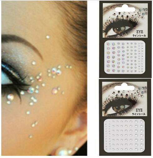 1PC 3D Sexy Tattoo Diamond Crystal Eye Makeup Eyeliner Eye Shadow Veneer Sticker Gemstone Eye Makeup Crystal Eye Sticker