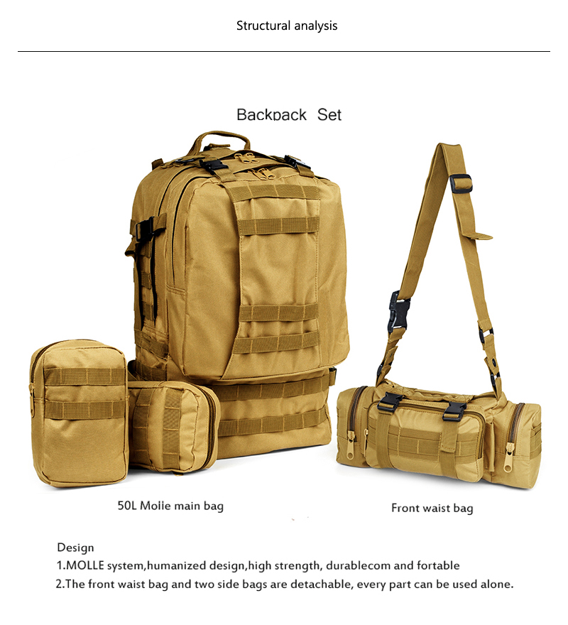 HTB1.icNgY1YBuNjSszeq6yblFXas - 50L Tactical Backpack,4 in 1 Military Backpack,Army Molle Outdoor Sport Bag,Men Camping Hiking Travel Climbing Backpack Tactical