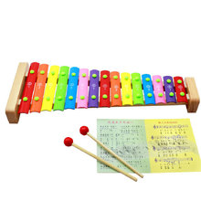 Free shipping, wooden toys, children's educational toys, ju wood ten tune xylophone, aluminum on a harp, standard xylophone