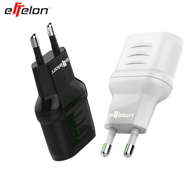 effelon EU Plug Dual USB 5V/2A Wall Charger 2 Ports Travel Adapter Charger for iPhone for Huawei Cell Phone USB Charger