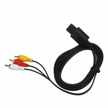 Gasky New Black Audio AV RCA Cable Cord Wire For N64 Video Game Console Gamepad Controller Professional Replacement Cables Tool