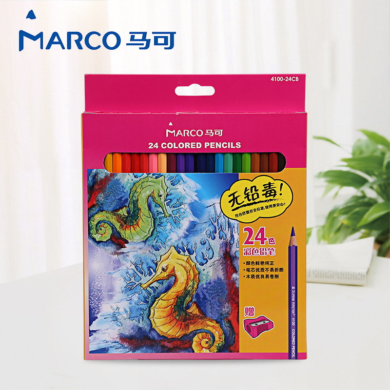 Marco Renoir Painting 36 Colors Safe Non-toxic Colored Pencil professional Watercolor Pencil Set For Write Drawing Art Supplies 12 24 36 48 72 colors non toxic indonesia lead water soluble colored pencil watercolor pencil set for write drawing art supplies