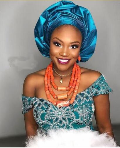 Conjunto de joyas de cuentas de Coral nigeriano a la moda para mujer, cuentas de Coral Natural, conjunto de joyería de boda africana, joyería de regalo nupcial CG054-in Conjuntos de joyería from Joyería y accesorios    1