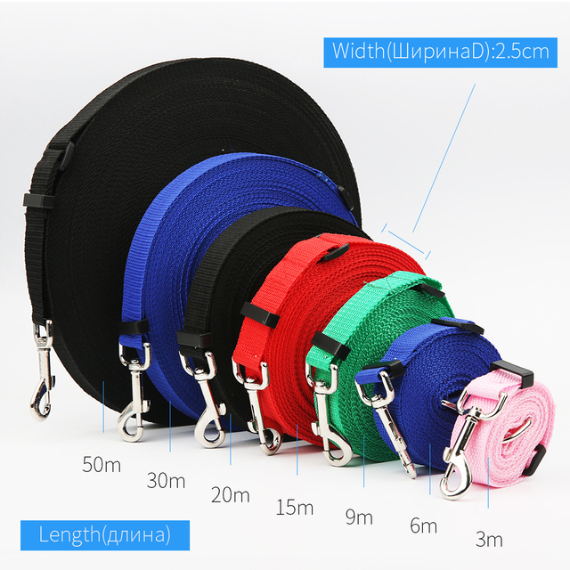 First-rate Pet Dog Lead 2.5cm Width Adjustable Length Leash for Dogs Cat Goods for Pets Long Distance Tracking Factory Outlet