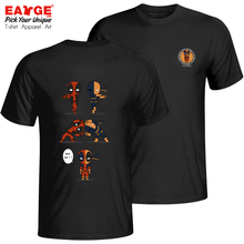 An Impossible Fusion Of Deadpool And Deathstroke T-shirt Cool Creative T Shirt Novelty Women Men Cotton Black Double Sided Top