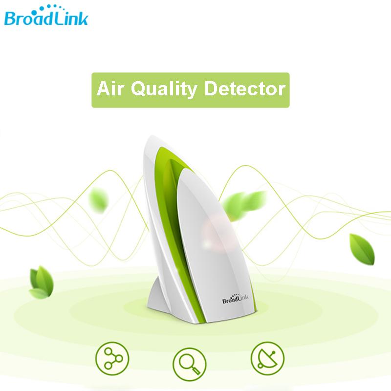 Prix pour Broadlink a1 wifi air qualité détecteur capteur maison intelligente e-air domotique système filtre analyze de l'air humidité bruit