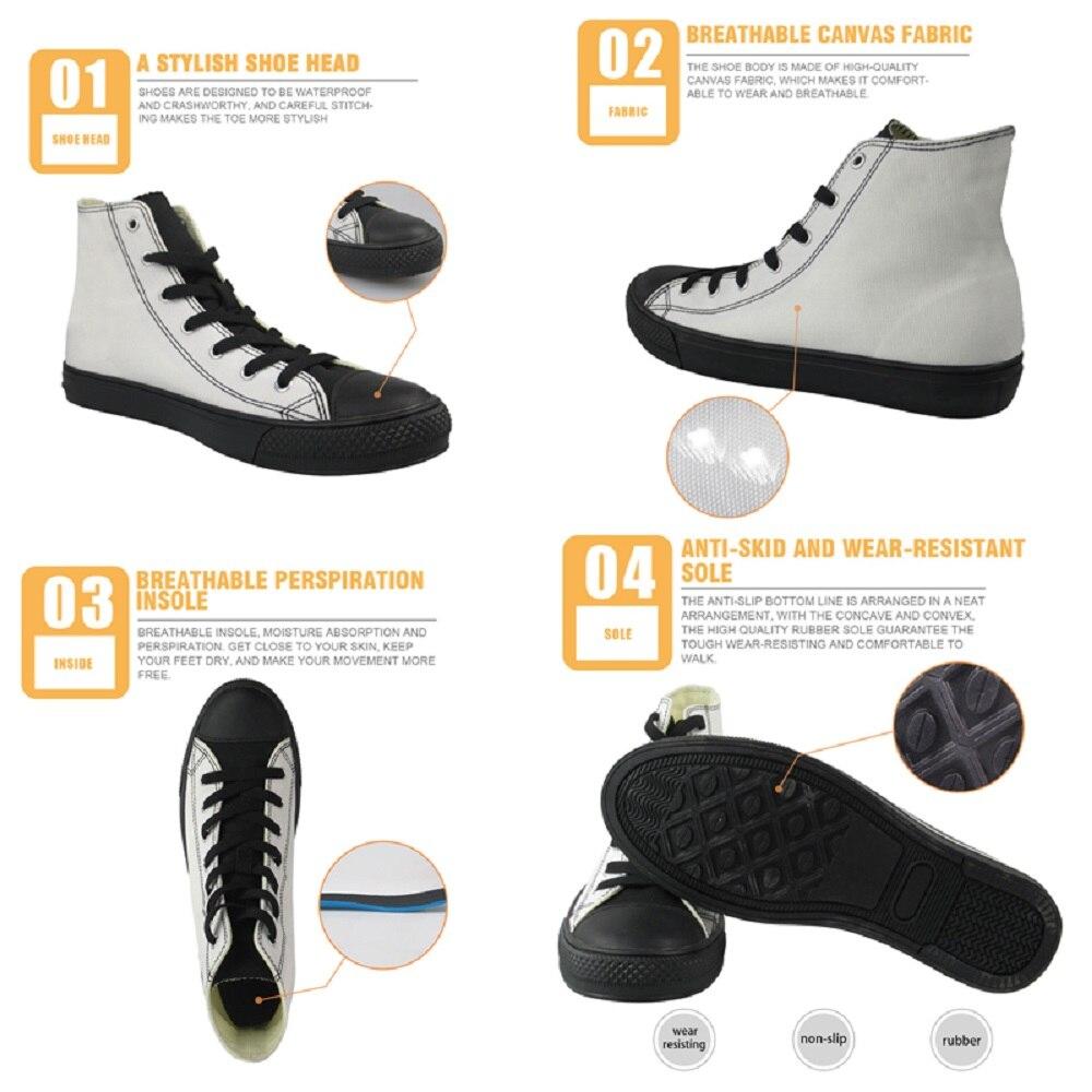Sneakers Conception Appartements Chaussures Créative z40 Forudesigns Haut hm408z37 custom z38 Lesuire Occasionnels Cool hm409z39 Custom Toile Garçons Hommes dessus Corfortable Impression Marque wwvF46Zxq