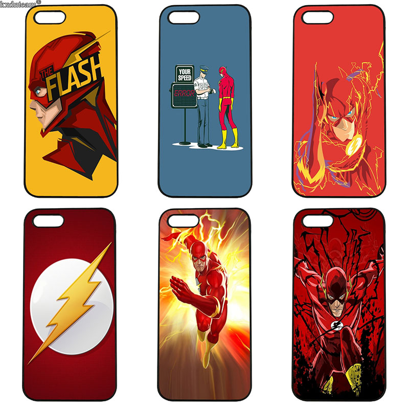 Hot Sale Flash Man Superhero Hard PC Anti-knock Cover Phone Cases for iphone 8 7 6 6S Plus X 5S 5C 5 SE 4 4S iPod Touch 4 5 6