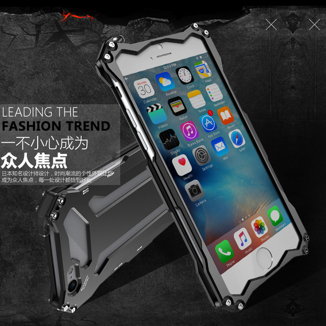 best service 8748d 0b3d0 US $16.5 |R JUST Gundam for iphone 6 6S plus case Original Design Armor  Shell Metal Aluminum protection phone shell case with hang rope-in ...