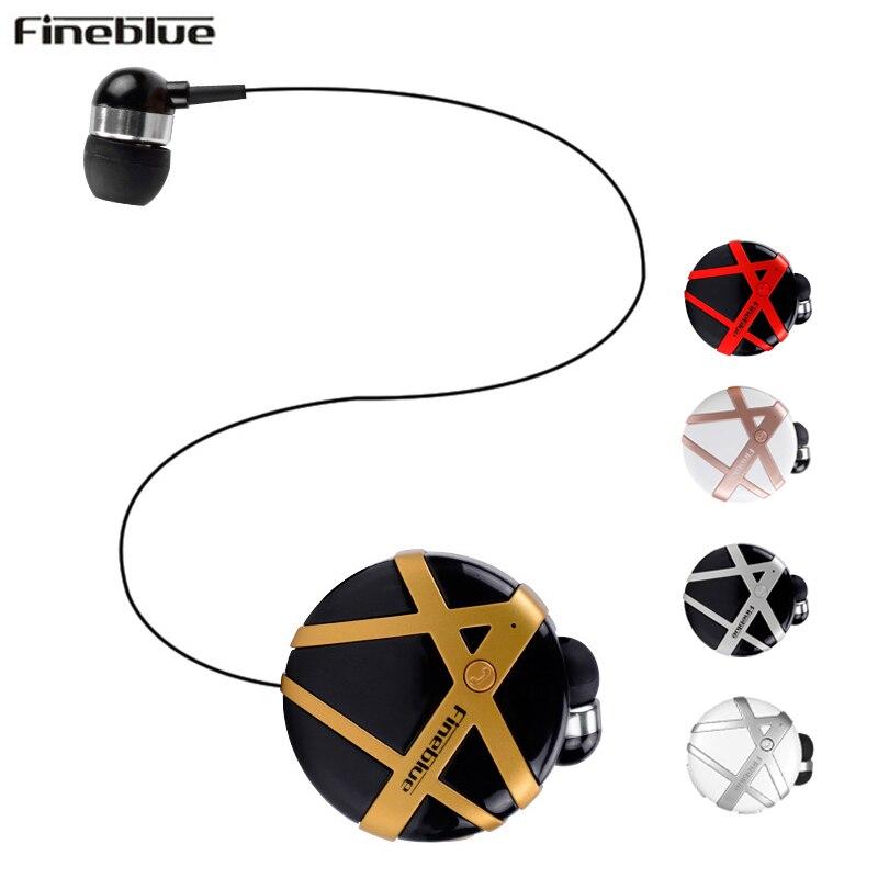 Fineblue FD-55 Wireless Bluetooth Headset Calls Remind Vibration Wear Portable Collar Clip Headset In-ear wireless Earphone
