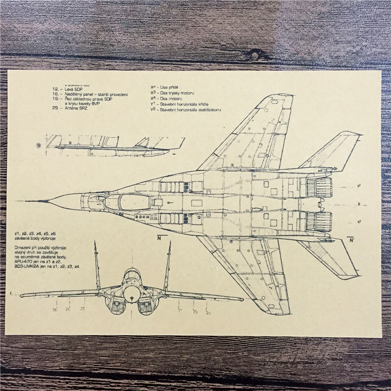New arrival FJ-219 back to the future kraft paper Strategic fighter home decor poster paintings for living room wall 42x30cm