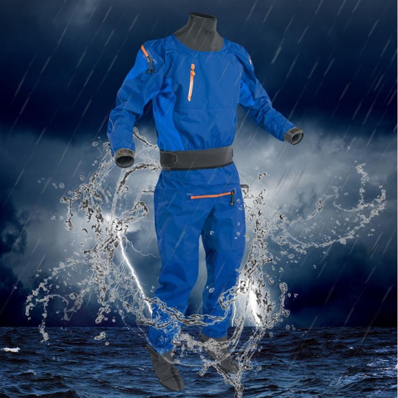 Combinaison sèche pour hommes Sport imperméable à l'eau fermeture à glissière arrière Kayak avec fermeture à glissière étanche à l'air fournir une durabilité et une Protection superbes garder au sec
