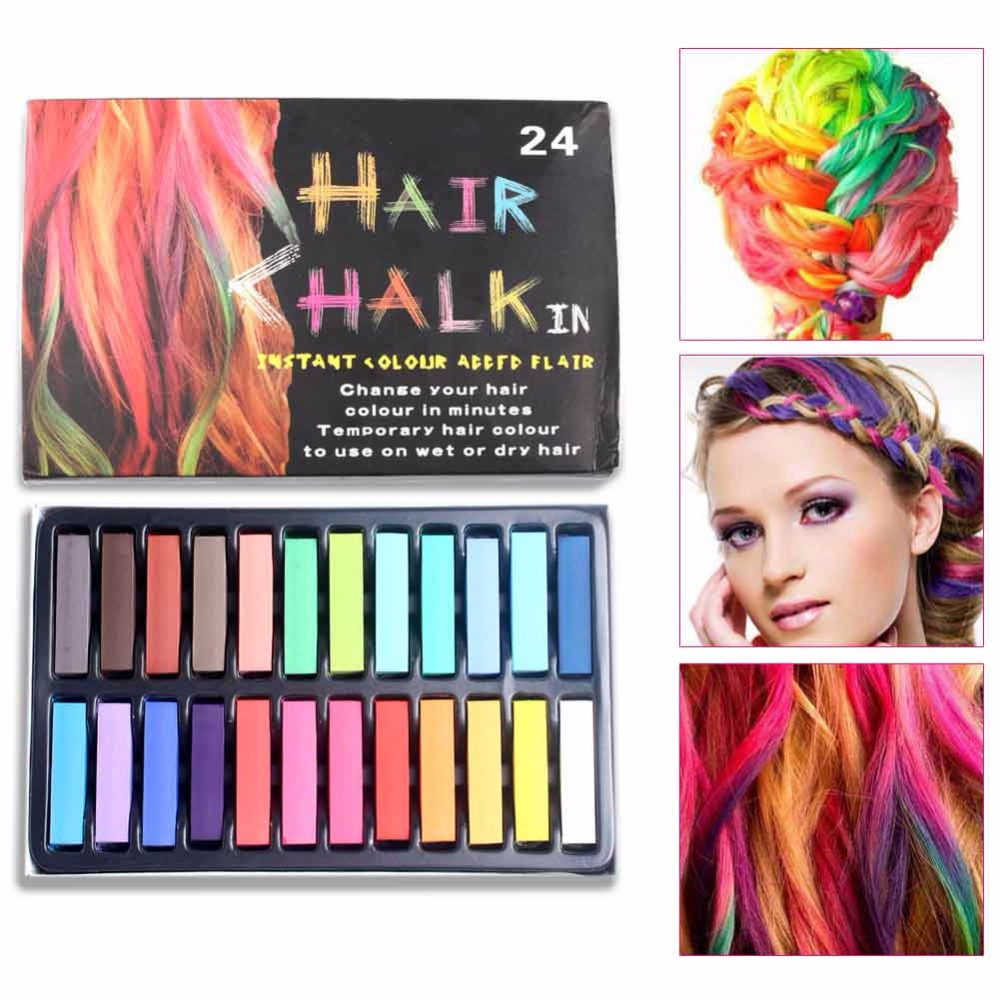 women beauty accessories hair coloring pens fast non toxic temporary pastel hair dye color chalk - Hair Color Pen