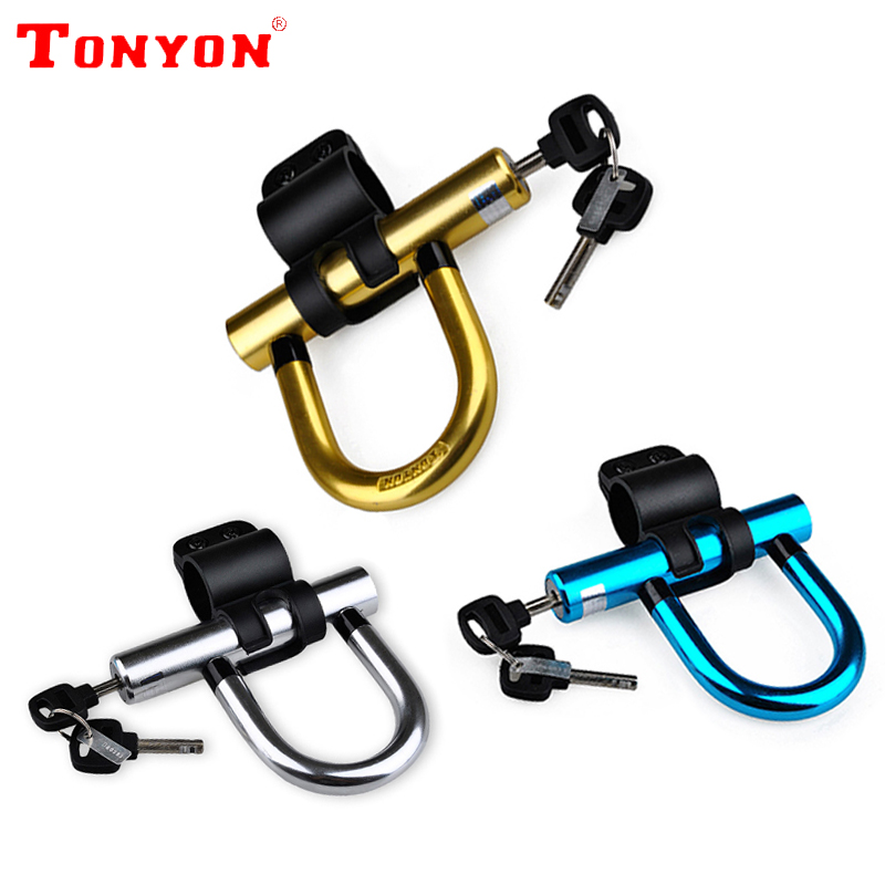 tonyon anti theft bicycle u lock bike lock on the bike candado bicicleta cadeado bisiklet kilidi. Black Bedroom Furniture Sets. Home Design Ideas