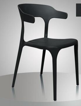 Plastic chair. Can be stacked with family dining chair. Recreational office coffee shop chair. plastic dining chair can be stacked the home is back chair negotiate chair hotel office chair