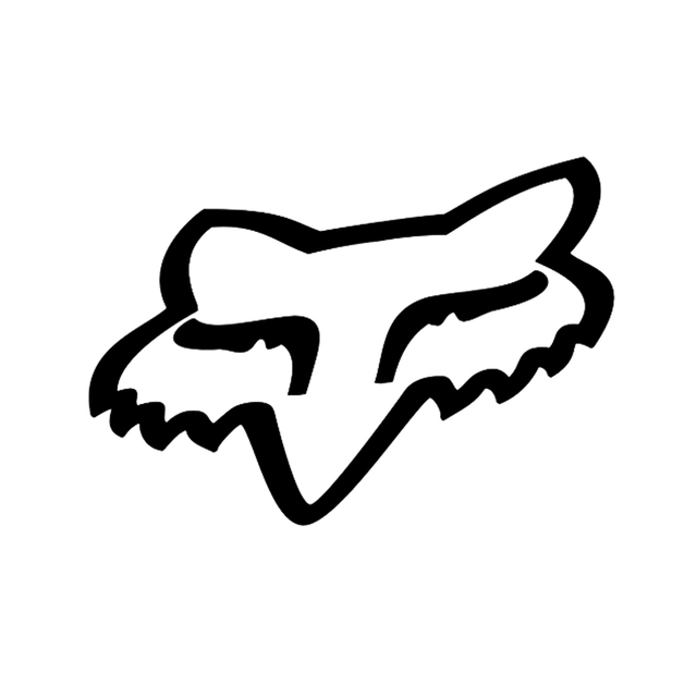 Fox Racing head Vinyl Decal Reflective sticker Skate Surf