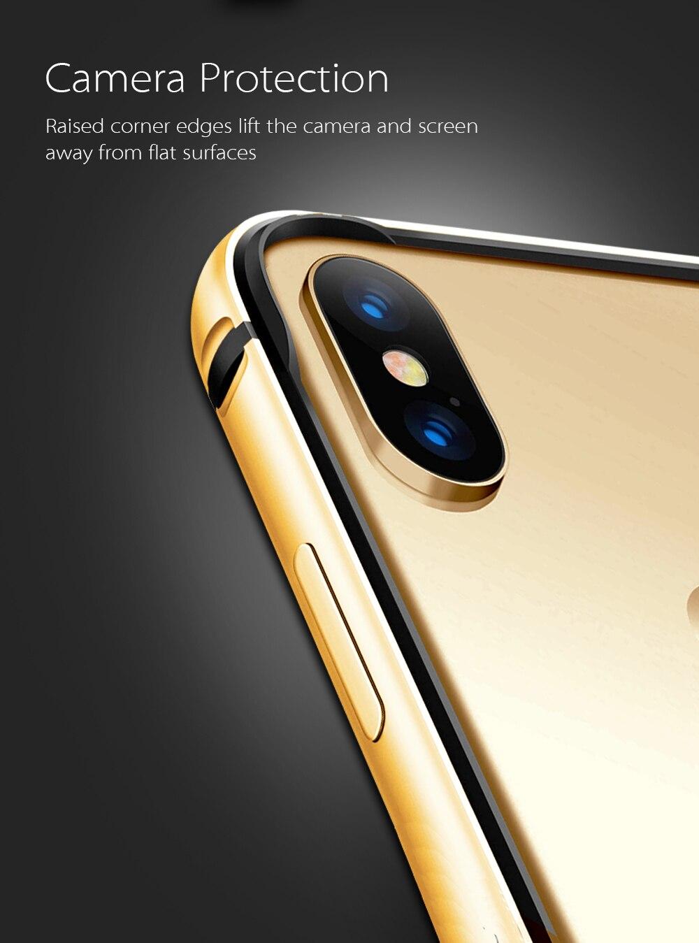 iphone xs gold bumper case
