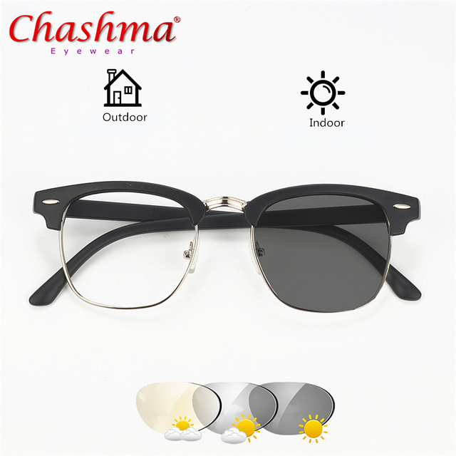 54c1a0484de7 CHASHMA Transition Sunglasses Photochromic Reading Glasses Men Women  Presbyopia Eyewear with Diopters glasses +1.0 +