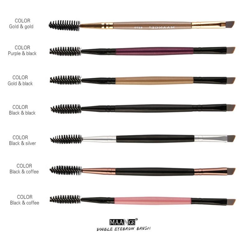 Maange Eyebrow Makeup Brush Wood Handle Double Sided Eyebrow Flat Angled Brushes Eye Brow Makeup Brushes Professional #2