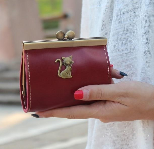 Retro  Bronze Metal Small Women Coin Purse Mini Change Purses Card Bags