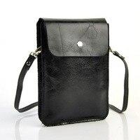 Women Genuine Leather Mini Handbag Cellphone Mobile Bag Shoulder Purse Pouch Cross Body Lady Messenger Casual Hobo Sling Classic