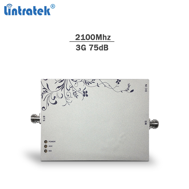 Lintratek signal booste2100Mhz 75dBi Band 1 cellphone gsm repeater 3g WCDMA network booster mobile signal amplifier