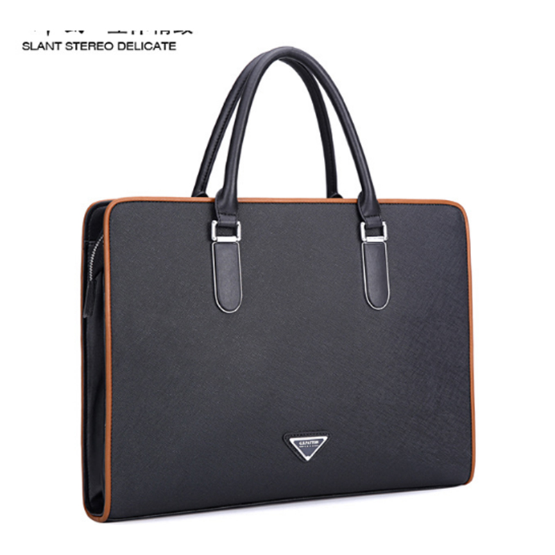 где купить XIYUAN BRAND Fashion European style Business Mens Bag Genuine Leather Casual Messenger Shoulder Satchel Travel Bag Tablet Bag дешево