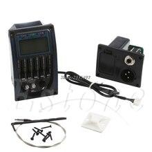 1 шт. LC 5 полосный гитарный пикап тюнер акустическая электрогитара бас предусилитель эквалайзер Эквалайзер