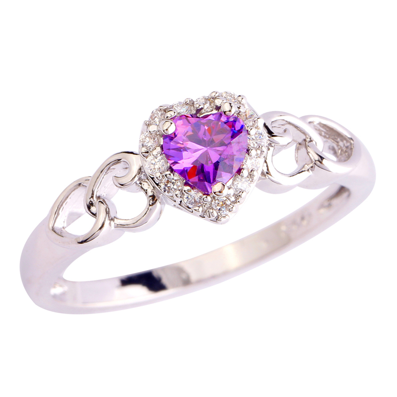 Solitare Oval Cut Pink Topaz Gemstones Silver Jewelry Ring Size 6 7 8 9 10 11 12