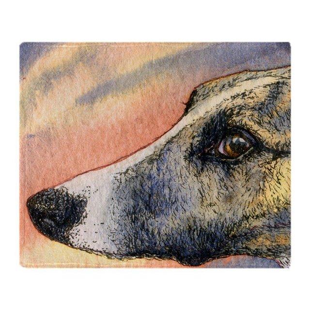 מנומר ויפט גרייהאונד כלב צמר רך שמיכה לזרוק שמיכת צמר זורק מאנטה Coberto עבור ספה/מיטה/מכונית/משרד