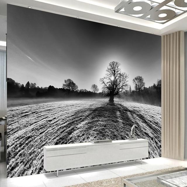 3d benutzerdefinierte abstrakte kunst tapete schwarz grau ein ...