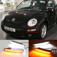 LED DRL for Vw Volkswagen Beetle 2007~2010 daytime running lights with turning signal light