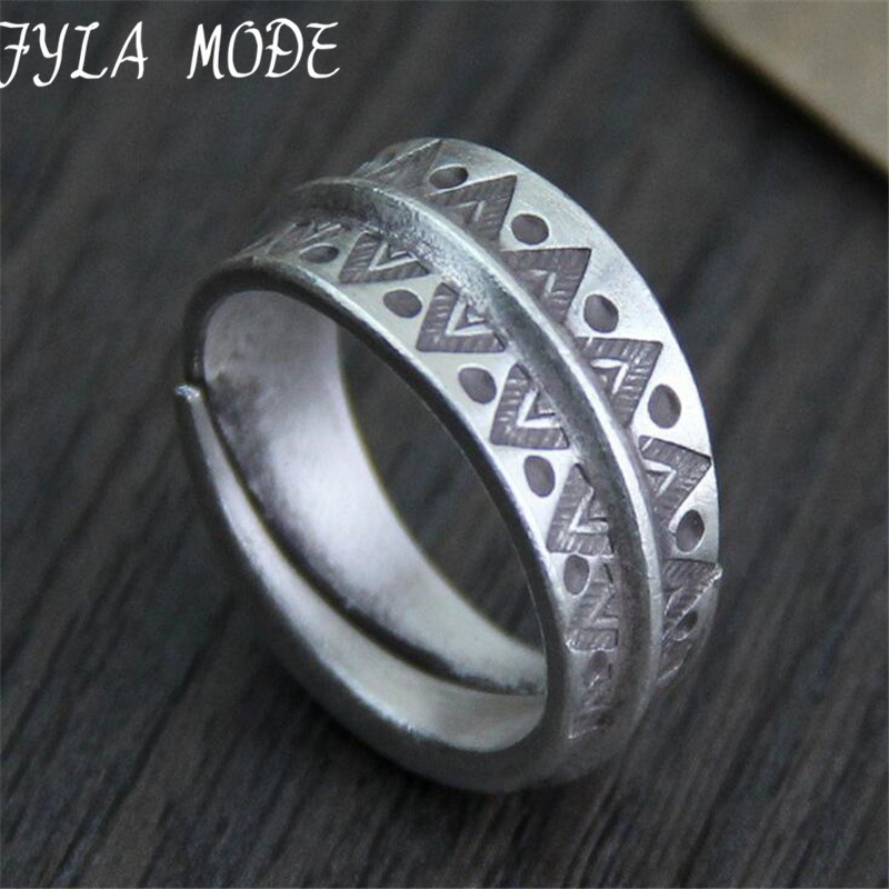 Retro Thai Silver Ring Hot Opening 999 Silver Jewelry For Women Wedding Ring Fine Vintage Jewelry in Rings from Jewelry Accessories