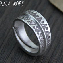 Retro Thai Silver Ring Hot Opening 999 Jewelry For Women Wedding Fine Vintage