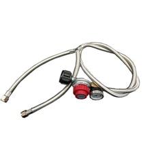 Earth Star Propane fire pit gas grill heater spare parts high pressure adjustable regulator valve Y-Splitter Braided hose