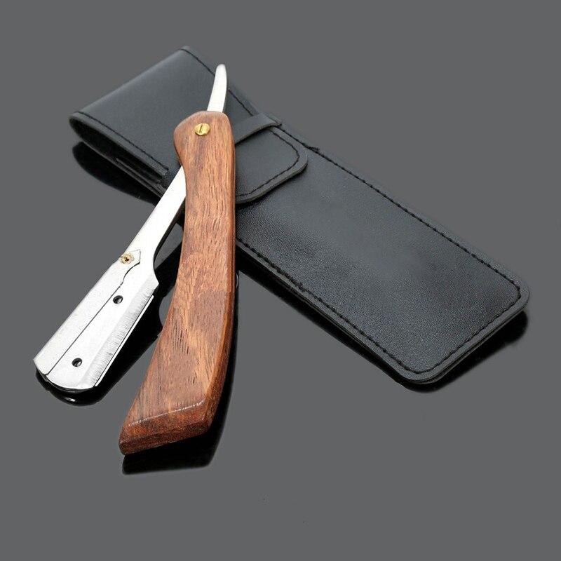 Ручной бритвы Профессиональный Straight Edge Нержавеющаясталь Sharp Парикмахерская Бритвы складной бритья Ножи брить бороду резак m03172