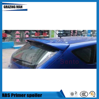 Hight Quality ABS Primer Unpainted Color Car Rear Roof Spoiler For Mazda 3 M3